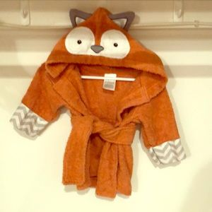Baby Fox terrycloth bathrobe